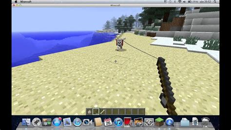 How to make a dog leash in minecraft - YouTube